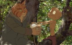 Кадр из мультфильма «Волшебный лес»
