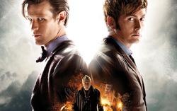 Постер юбилейного эпизода сериала «Доктор Кто»