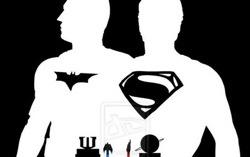 Фрагмент фанатского постера фильма «Бэтмен vs Супермен: На заре справедливости»