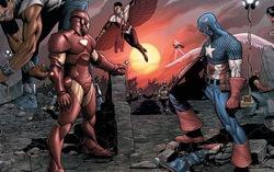 Кадр из комикса «Гражданская война»