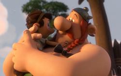 Кадр из мультфильма «Астерикс: Земля Богов»