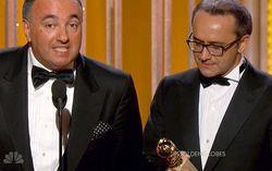 Кадр трансляции церемонии вручения премии «Золотой глобус» на канале NBC