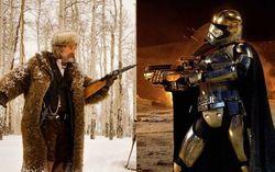 Кадры из фильмов «Омерзительная восьмерка» и «Звездные войны. Эпизод 7. Пробуждение силы»