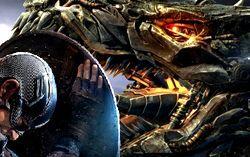 Постеры фильмов «Первый мститель: Противостояние» и «Трансформеры: Эпоха истребления»