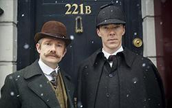 Промо кадр рождественского эпизода сериала «Шерлок»