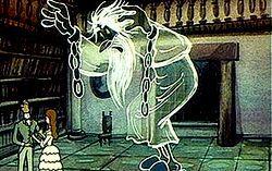 Кадр из мультфильма «Кентервильское привидение»