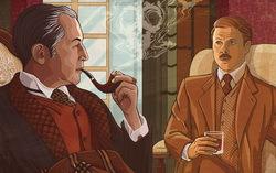 Иллюстрация на тему советского фильма «Шерлок Холмс и доктор Ватсон». Изображение с сайта ЛитКульт