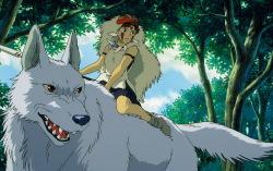 Кадр из мультфильма «Принцесса Мононоке»