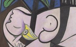 Фрагмент картины Пабло Пикассо «Обнаженная, зеленые листья и бюст»