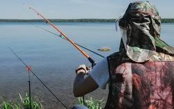Акция «Второй товар для летней рыбалки за 1 рубль» в розничных магазинах «Галамарт» 5 июля 2020 г. Фото предоставлено организаторами