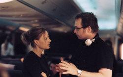Швентке с Джоди Фостер на съемках. Фото с сайта starpulse.com