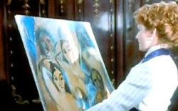 Кадр из фильма «Титаник» с использованием изображения картины