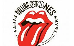 Обновленный в честь 50-летия логотип группы Rolling Stones