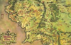 Карта Средиземья с сайта goodfon.ru